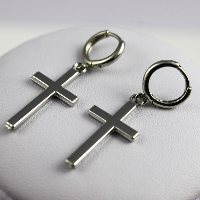 Men's Fashion Cross Shaped Earrings
